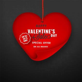 Felice concetto di vendita di san valentino