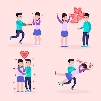 Felice coppia di san valentino
