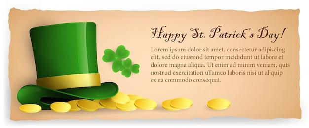 Felice design di banner saint patricks day