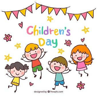 Felice disegno di giorno dei bambini