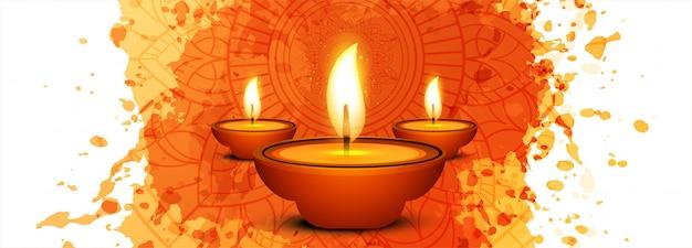 Felice diwali hindu festival card per banner