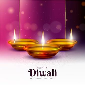 Felice diwali la festa delle candele