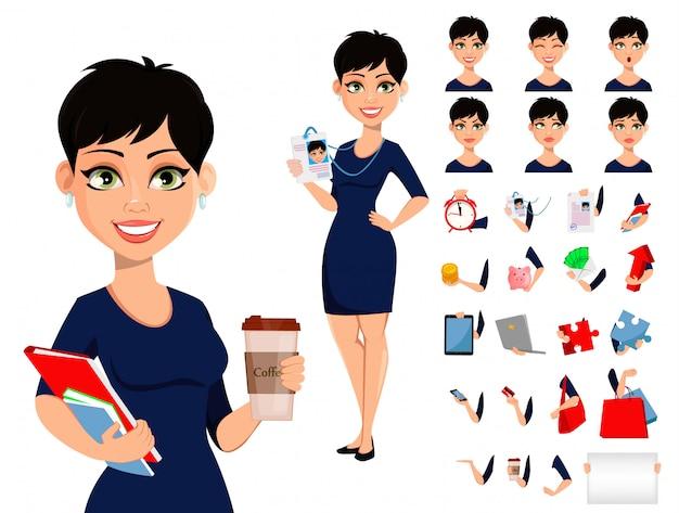 Felice donna d'affari moderna
