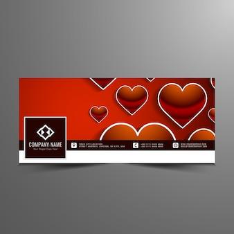 Felice elegante modello di banner timeline facebook di san valentino