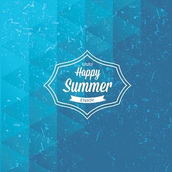 Felice estate. godere. mosaico triangolare