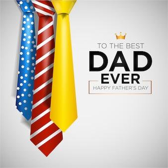 Felice festa del papà con cravatte