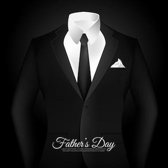 Felice festa del papà in uno sfondo nero vestito