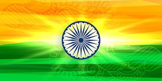 Felice festa dell'indipendenza sfondo indiano