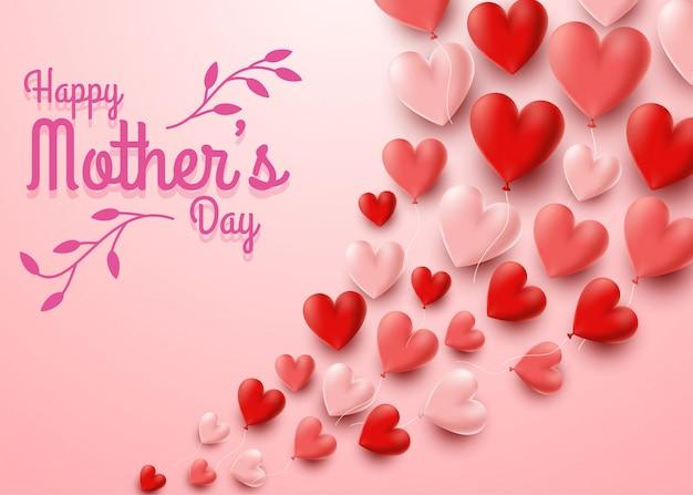Felice festa della mamma con sfondo di fiori