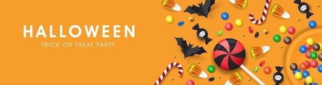 Felice festa di banner di halloween.