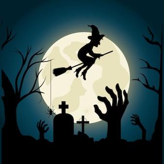 Felice festa di halloween festival design.