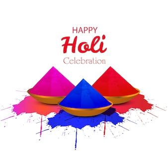 Felice festival holi di colori