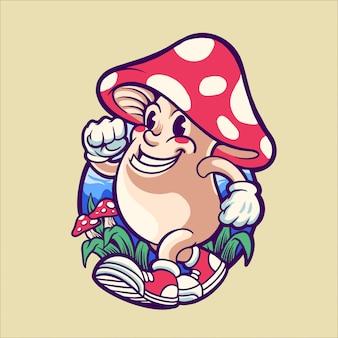 Felice fungo magico