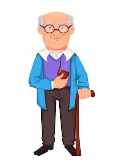 Felice giorno dei nonni. nonno allegro
