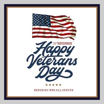 Felice giorno dei veterani poster design