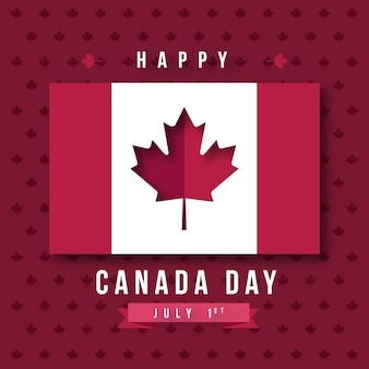 Felice giorno del canada con bandiera