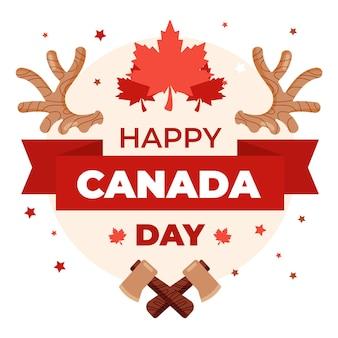 Felice giorno del canada con foglia d'acero