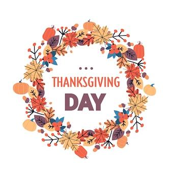 Felice giorno del ringraziamento autunno tradizionale festa di auguri auguri