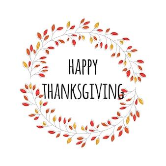 Felice giorno del ringraziamento card