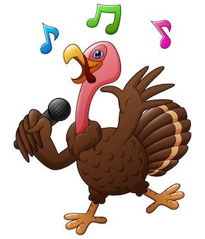 Felice giorno del ringraziamento con il canto di tacchino fresco