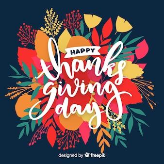 Felice giorno del ringraziamento lettering