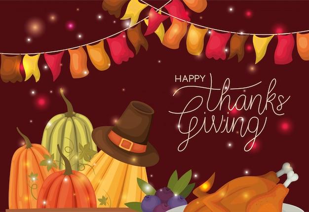 Felice giorno del ringraziamento sfondo