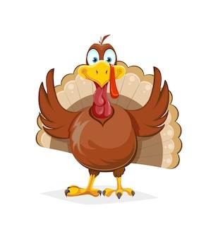 Felice giorno del ringraziamento. uccello divertente della turchia del ringraziamento