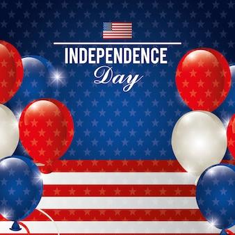 Felice giorno dell'indipendenza, 4 luglio celebrazione negli stati uniti d'america