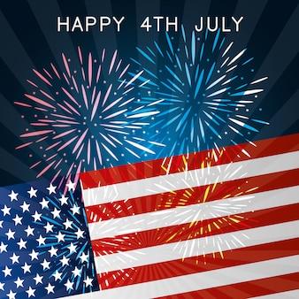 Felice giorno dell'indipendenza 4 luglio celebrazione usa