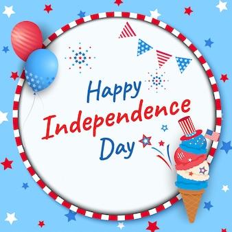 Felice giorno dell'indipendenza gelato