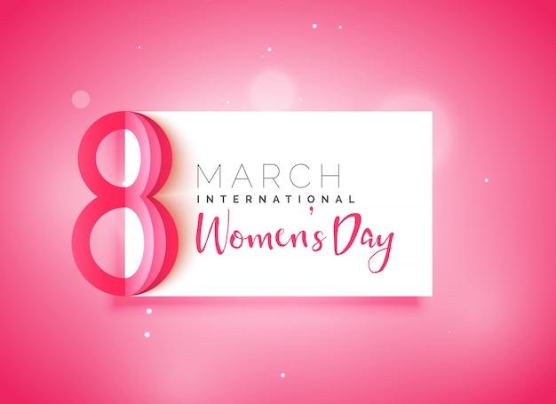 Felice giorno della donna bella sfondo rosa