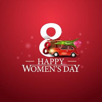 Felice giorno della donna logo con doni