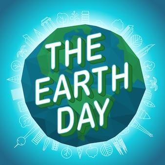 Felice giorno della terra. concetto di vettore di giornata mondiale dell'ambiente