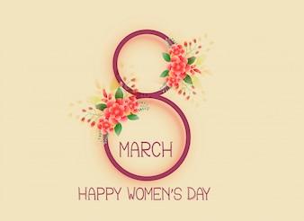 Felice giorno delle donne 8 marzo sfondo del design