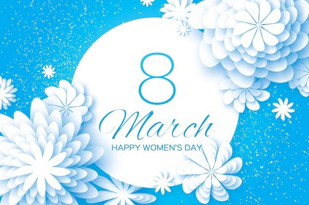 Felice giorno delle donne. fiore di carta.