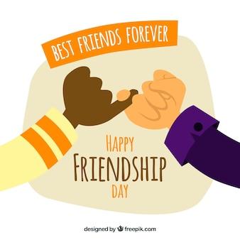 Felice giorno di amicizia con le dita rosa
