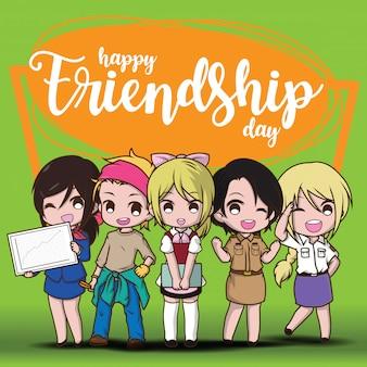 Felice giorno di amicizia