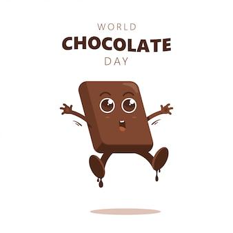 Felice giorno di cioccolato divertente cartone animato