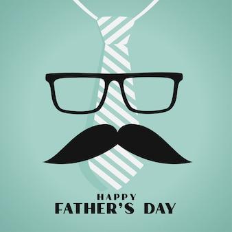 Felice giorno di padri saluto design in stile hipster