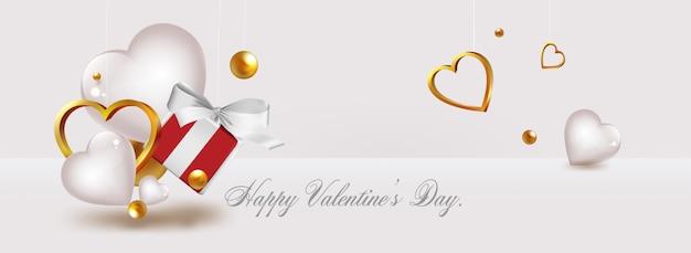 Felice giorno di san valentino 3d stile vettoriale