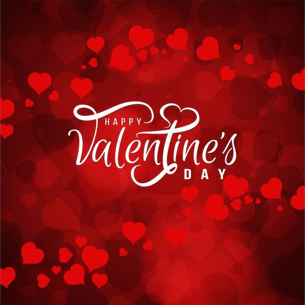 Felice giorno di san valentino amore sfondo