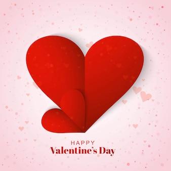 Felice giorno di san valentino auguri con cuori