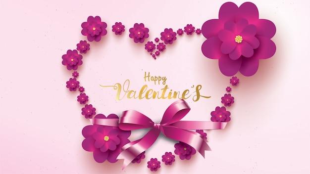 Felice giorno di san valentino biglietto d'auguri