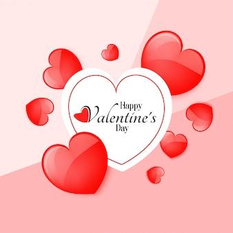 Felice giorno di san valentino biglietto di auguri