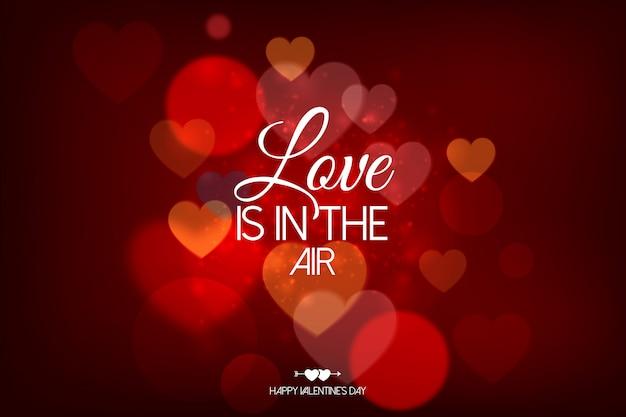 Felice giorno di san valentino carta con cuori