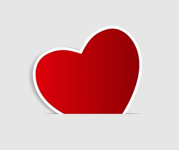 Felice giorno di san valentino carta con il cuore.