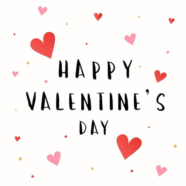 Felice giorno di san valentino carta vettoriale