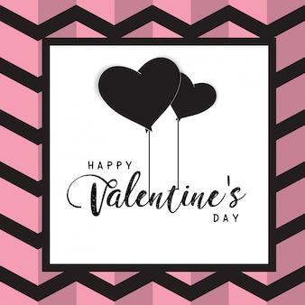 Felice giorno di san valentino casella di testo e diserbo elementi di design