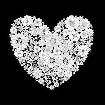Felice giorno di san valentino con cuore forma vettoriale
