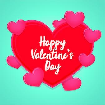 Felice giorno di san valentino cuore